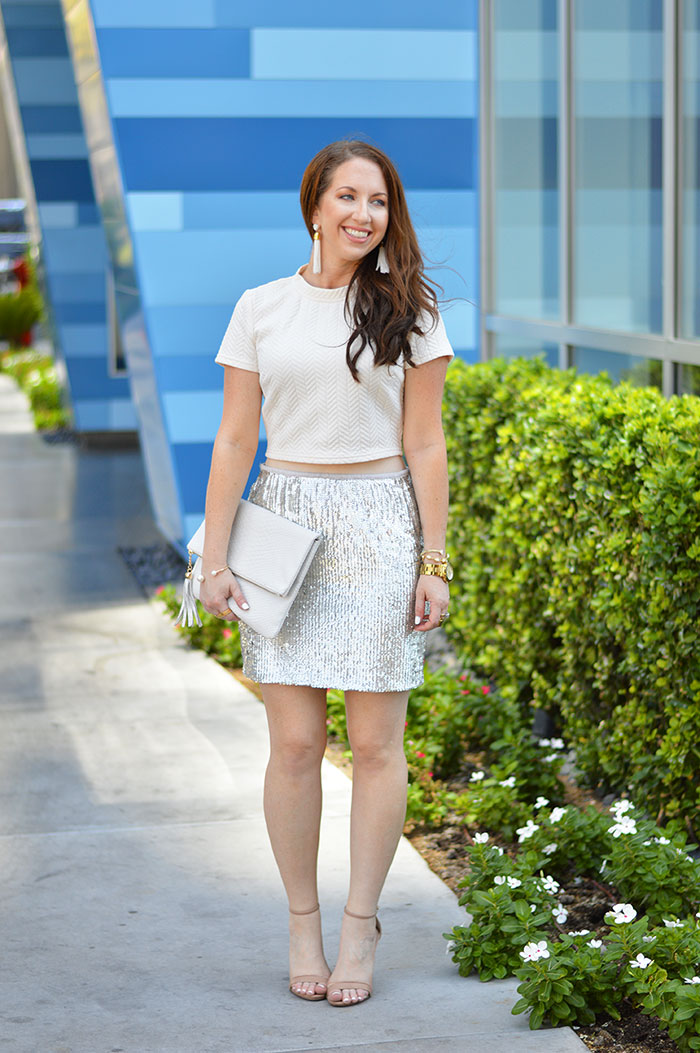 Sequin Mini Skirt Law Of Fashion Blog