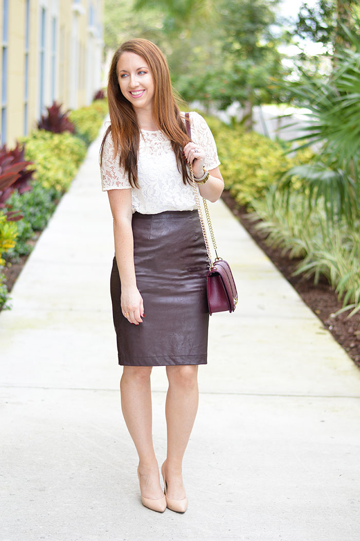 Leather Pencil Skirt - Law of Fashion Blog