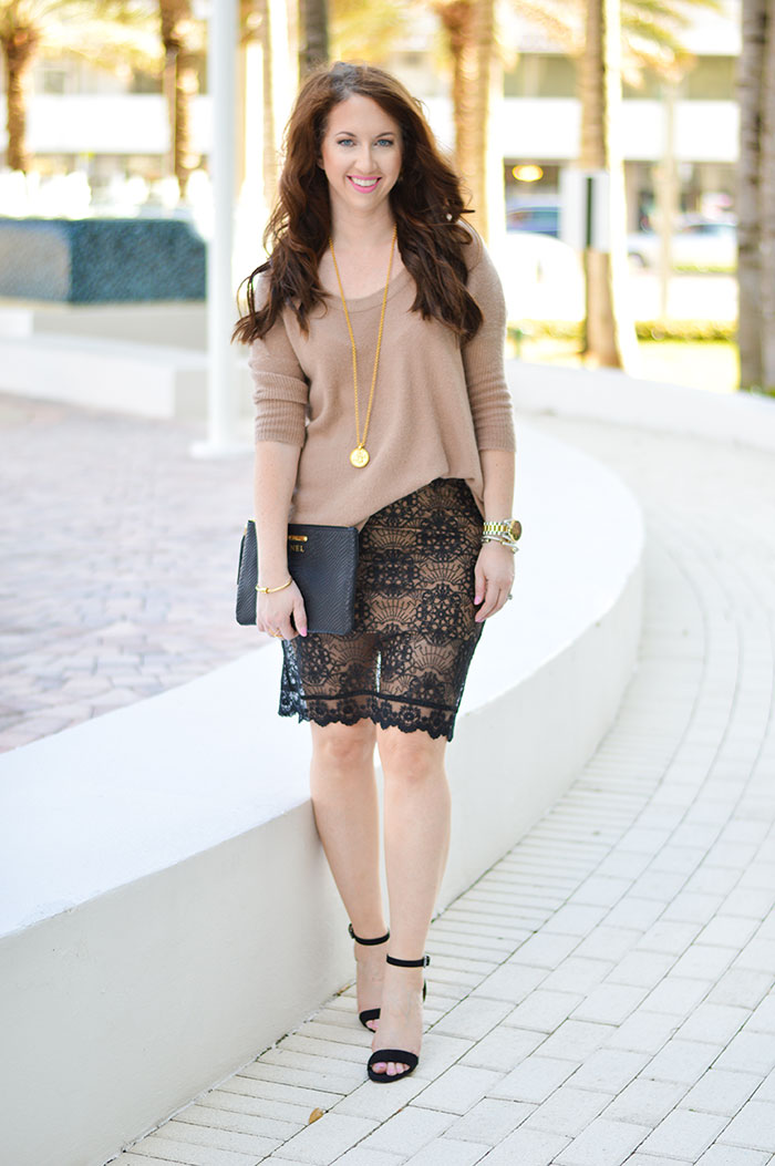 lace pencil skirt law of fashion blog