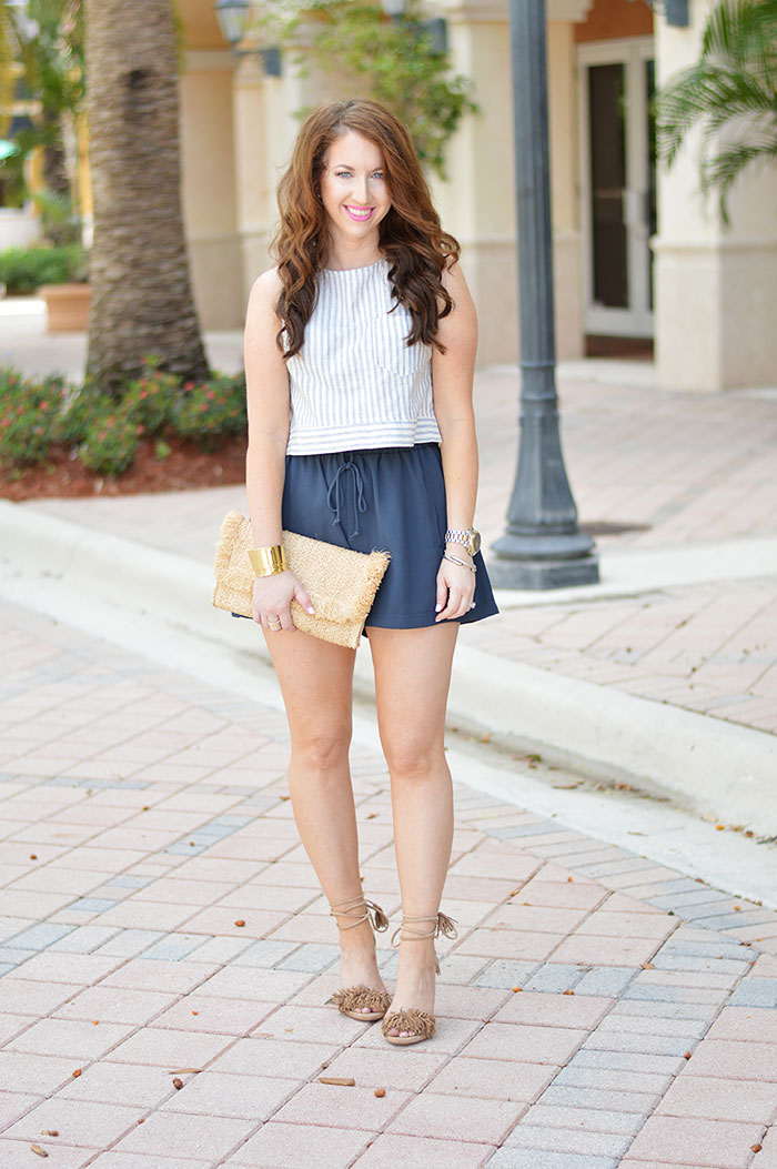 4c689764df569 Crop Top and High Waisted Shorts - Law of Fashion Blog