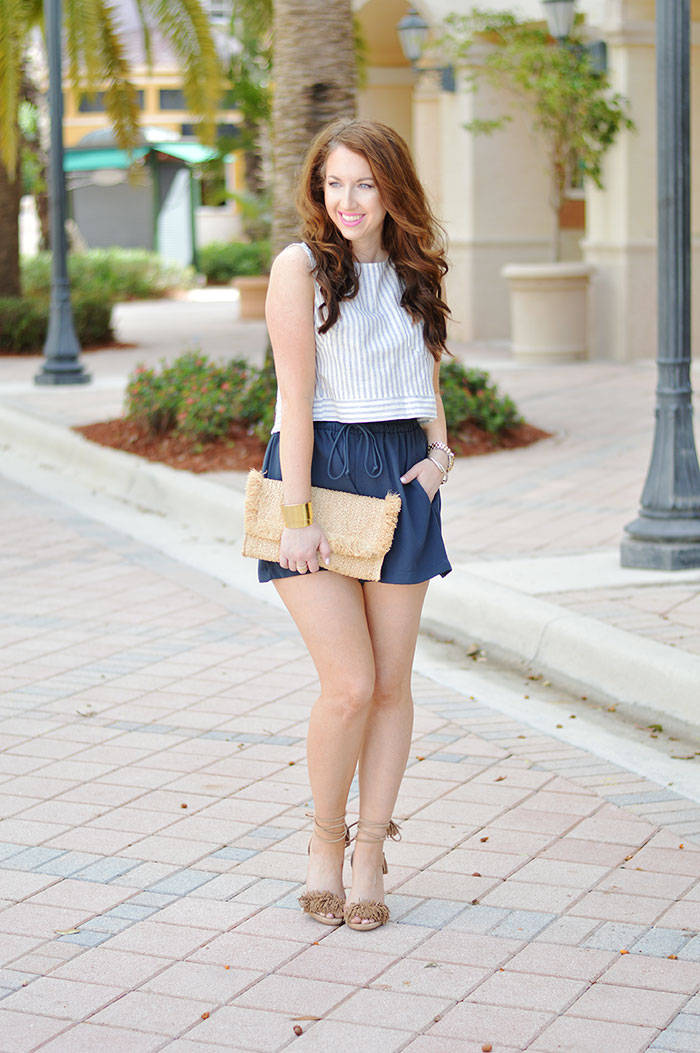 Crop Top And High Waisted Shorts Law Of Fashion Blog