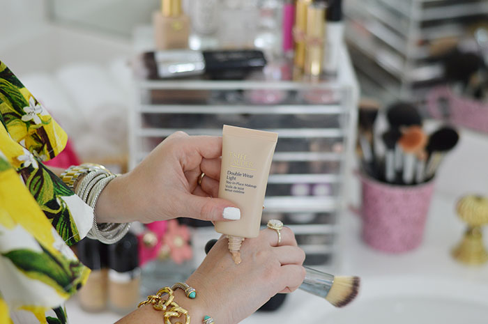 nina lacher from law of fashion blog shares foundations for oily skin