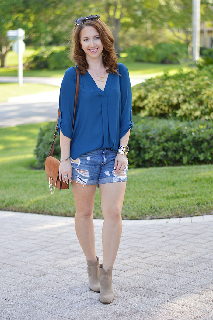 lush v neck blouse