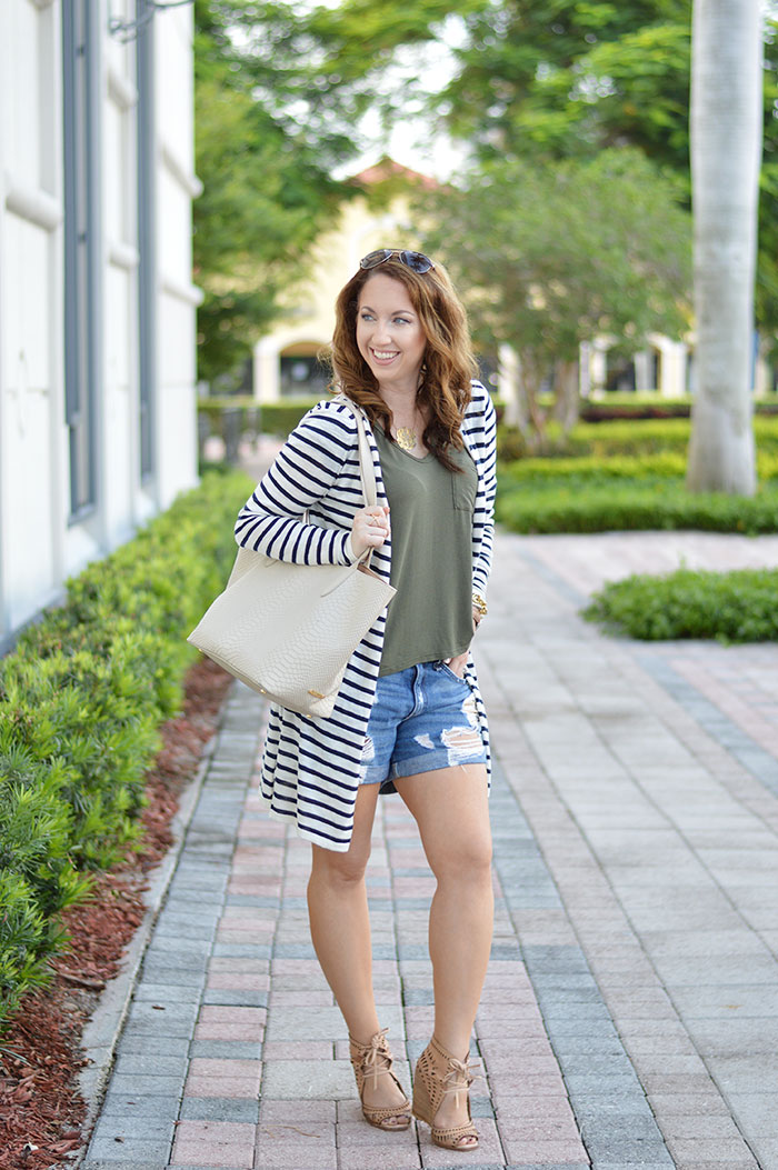 the best striped cardigan