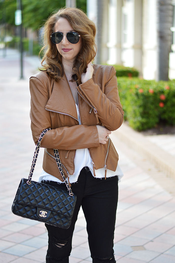 c4a109951 florida winter look. black white and camel. black white and camel. Blanknyc  Faux Leather Jacket ...
