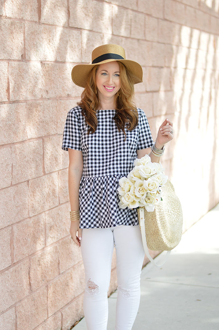 nina lacher from law of fashion blog wears clare v. alice tote