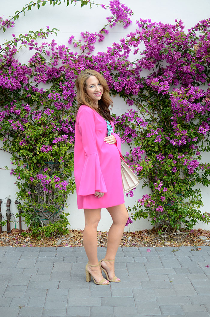 nina lacher from law of fashion blog wears cute maternity looks