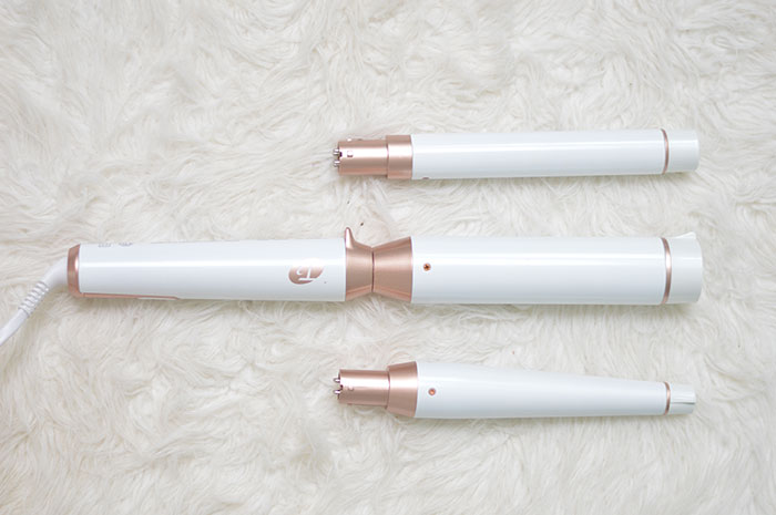 nina lacher from law of fashion blog uses t3 whirl trio interchangeable styling wand