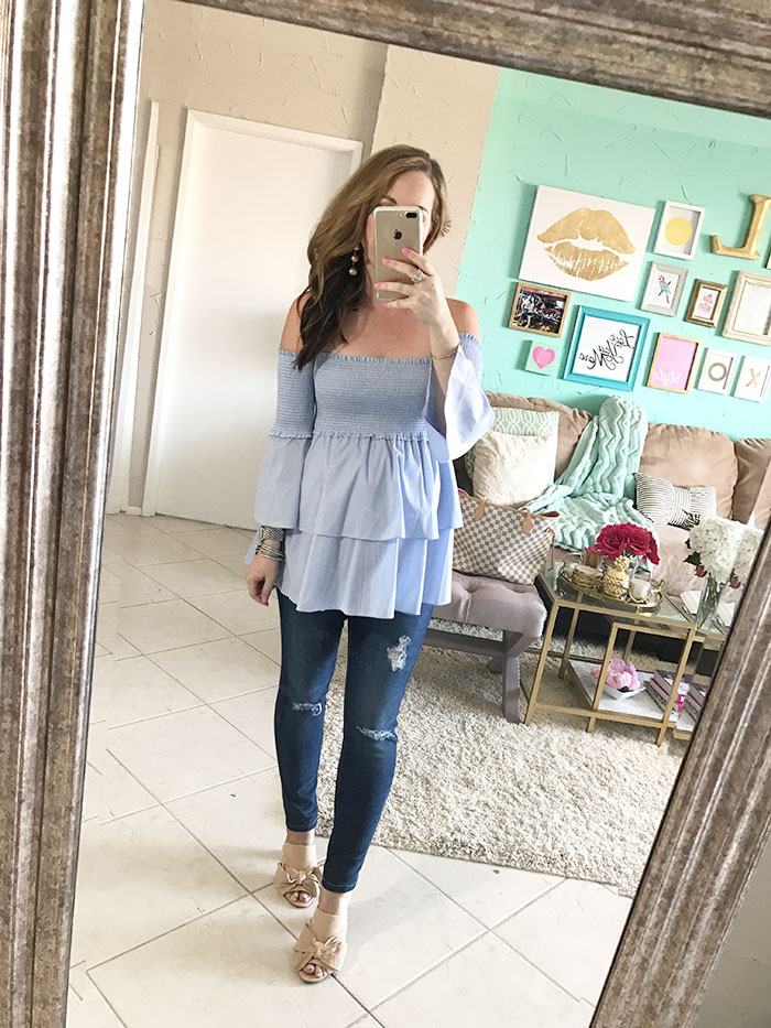 634be2103543e nina lacher from law of fashion blog wears ag jeans maternity secret fit  belly ripped ankle