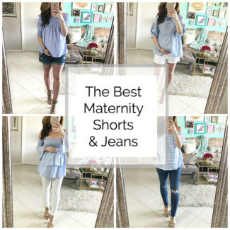 Try Ons: Maternity Shorts and Jeans