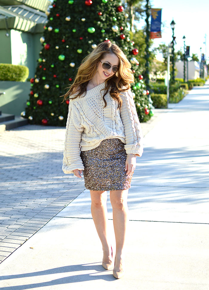 sequin holiday look