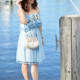 Chambray Tassel Dress