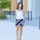 Stripe Wrap Skort